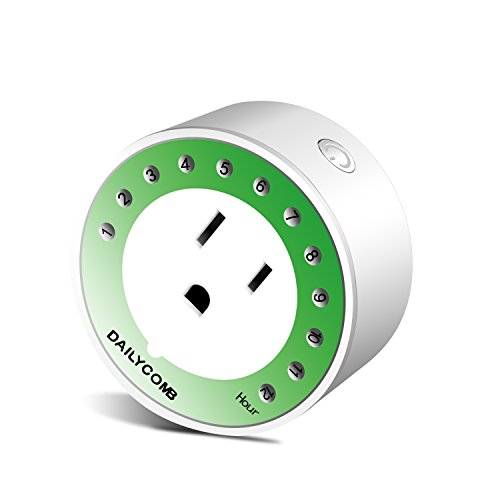 Price comparison product image DAILYCOMB Mini Indoor Outlet Timer, Energy Saving and Extending the Life of Phone/Ipad/Wireless Charger/Portable Power Bank/lamp/Light/Household Electric Appliances,12 Hours Plug in Timer