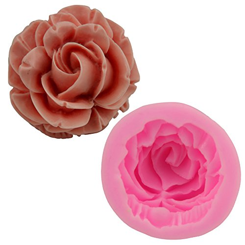 Mr.S Shop 3D Sweet Rose Flower Silicone Fondant Mold Gum Paste Sugar Craft Cake Decorating Baking Tools