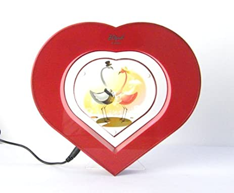 Amazon.com - ZOpid - Heart-shaped Levitating Photo Frame - Red ...