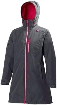 Helly Hansen womens Long Belfast Waterproof Windproof Breathable Raincoat Jacket With Hood