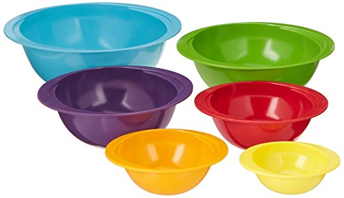 Gourmet Home Products 6-pc. Melamine Multicolor Mixing Bowl Set