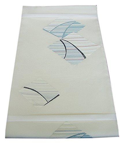 博多着物市場 きものしらゆり 新品 夏帯 西陣織 紗 白地 高級 袋帯 正絹 仕立て上がり