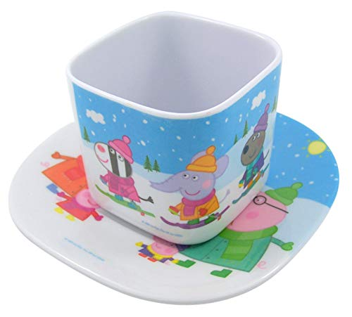 Peppa Pig Plastic Children's Toy Tea Cup and Saucer Set
