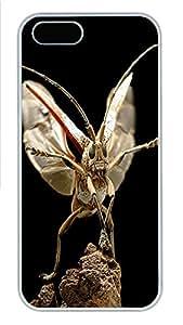iPhone 5 5S Case Grasshopper Launch Animal PC Custom iPhone 5 5S Case Cover White