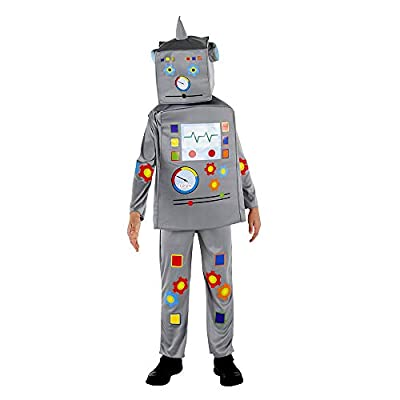 Dress Up America Super Deluxe Robot Costume for Kids - Product Comes Complete with Jumpsuit, Tunic and Headpiece