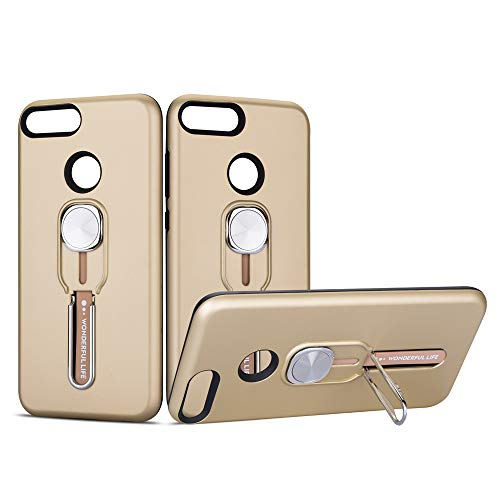 LEI JUN Compatible with Huawei Honor 9 Lite Case, Shockproof Full-Body Protective Case Anti-Scratch Soft TPU Bumper Cover for Huawei Honor 9 Lite, Golden (574 Stop Bumper)