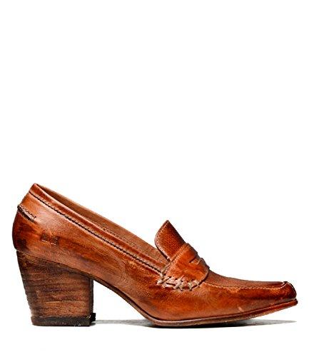 Bed|Stu Women's Leeds Leather Wedge & Heel (9 B(M) US, Cognac Dip Dye)