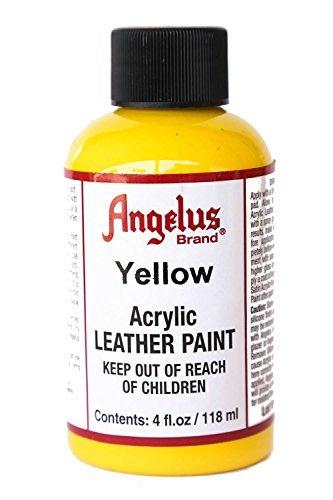 Angelus Acrylic Leather Paint-4oz.-Yellow ()