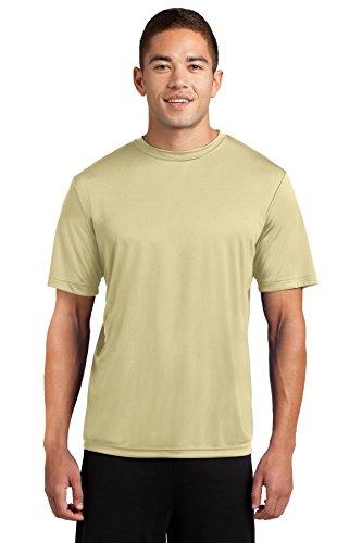 Dri-Tek Mens Big & Tall Short Sleeve Moisture Wicking Athletic T-Shirt, LT, Vegas Gold ()