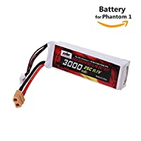 Lipo Battery 11.1V 3000mah 25C XT60 Plug for DJI Phantom 1 FC40 DJI Flame Wheel F450 F550 FPV Quadcopter