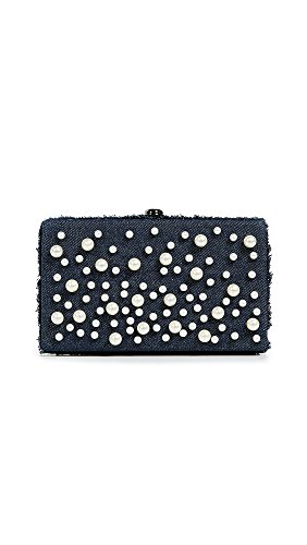 Pearl Denim Clutch Deux Lux Women's Box Faux AaxSqF0S