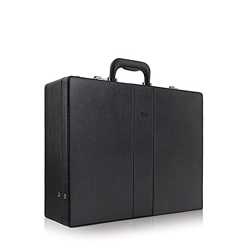 Solo Grand Central Attaché, Hard-sided with Combination Locks, Black by SOLO (Image #2)