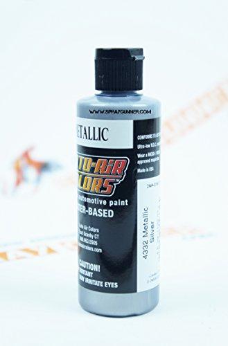Createx Auto-Air Colors 4oz Metallic Silver 4332 Custom Airbrush Paint. by SprayGunner