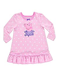 Peppa Pig Nightgown For Toddlers | Soft & Warm Sleepwear | Pink PJ Gown - 3T