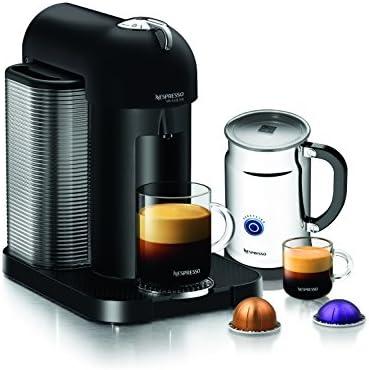 Nespresso A GCA1-US-BM-NE VertuoLine Coffee and Espresso Maker with Aeroccino Plus Milk Frother, Matte Black Discontinued Model