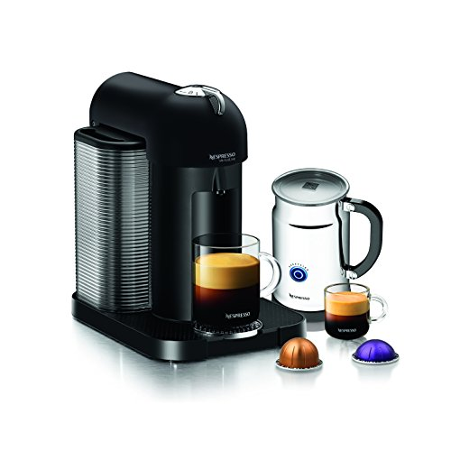 Nespresso A GCA1-US-BM-NE VertuoLine Coffee and Espresso Maker with Aeroccino Plus Milk Frother, Matte Black Discontinued Model