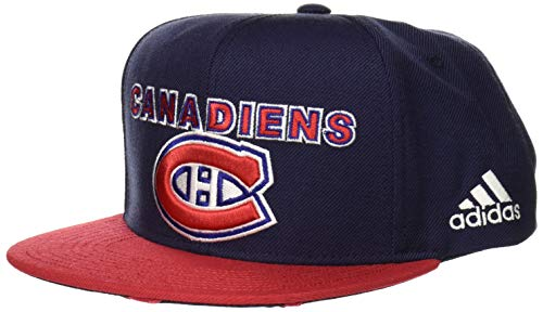 (NHL Montreal Canadiens Flat Brim Snapback Hat, One Size, Navy )
