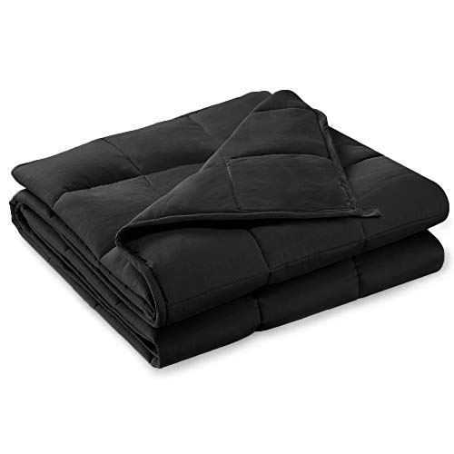 Cheap Brighton Weighted Blanket Adult Queen Size Heavy Blanket for Sleeping Adults Weighted Anxiety Blanket for Adults for Tranquil and Restful Sleep. (Black 60x80 20lbs) Black Friday & Cyber Monday 2019