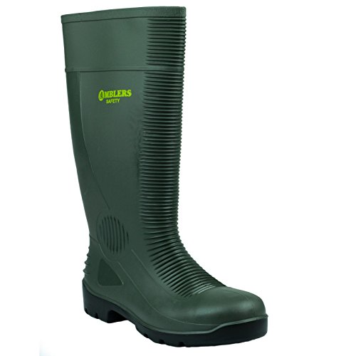 Steel Safety FS100 Wellingtons Mens Amblers Green 1pqtd1