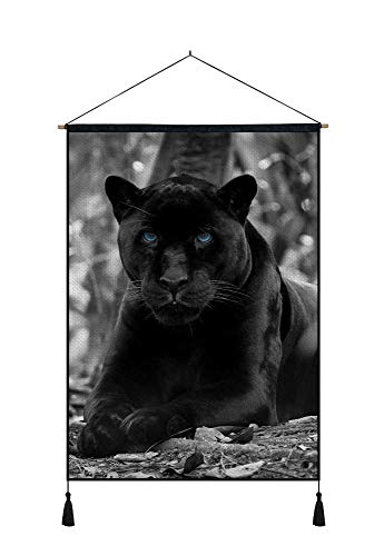 DZ.HAIKA Black Panther (N12) - Animal Picture Art Print Cotton Linen Home Wall Decor Hanging Posters(18x26inch)