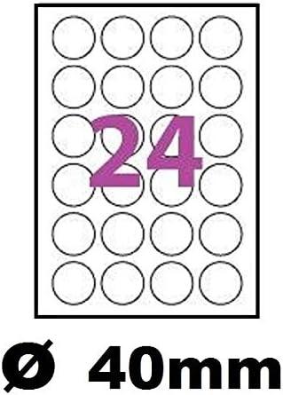 50 foglio A4 150 etichette rotonda auto-adesivo 12 mm 150 etichetta adesiva rotondo carta per getto dinchiostro e stampanti laser