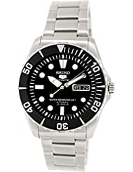 Seiko Men's 5 Automatic SNZF17K Silver Stainless-Steel Automatic Watch