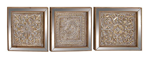 Deco 79 44442 Wall Plaques, Gold, Bronze, Mirrored (Chinese Wall Plaque)