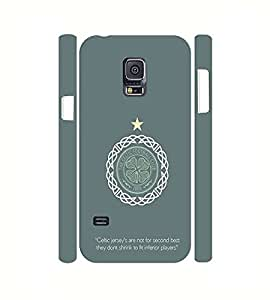 Celtic Fc,Football Club Team Logo Printed Glamorous Visual 3D Carcasa Case Cover For Samsung Galaxy S5 Mini Slim Protective De Pl¨¢stico Skin Shell Case Cover For Girls