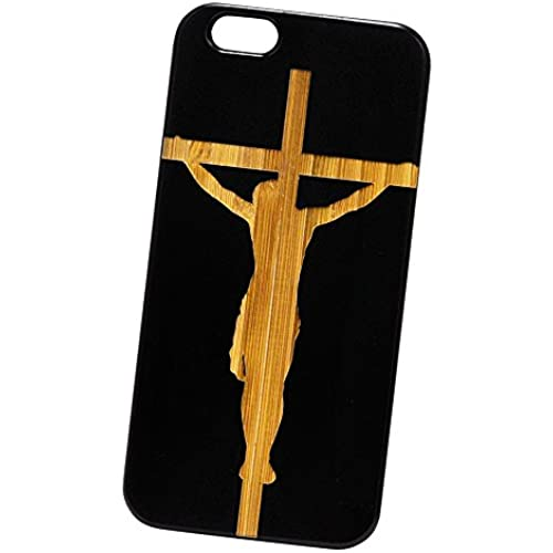 Jesus Crucifixion Engraved Black Bamboo Cover for iPhone and Samsung phones Wood - Samsung Galaxy s7 Sales