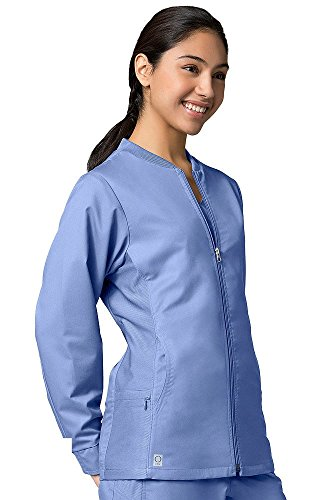 (Maevn EON Sporty Mesh Panel Scrub Jacket (Large, Ceil Blue))