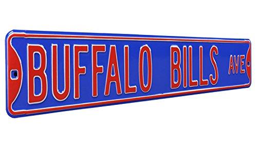 Fremont Die NFL Buffalo Bills Metal Wall Décor- Large, Heavy Duty Steel Street Sign (Street Signs Wall Decor)