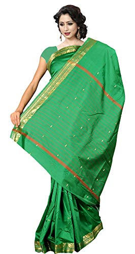 Green Silk Saree - KoC Indian Traditional Ethnic Women wear Art Silk Saree -Green