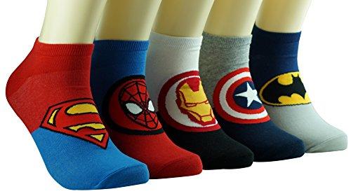 Dasom Superheroes and Villains Cute Cartoon Hero Socks Set, 5-8 -