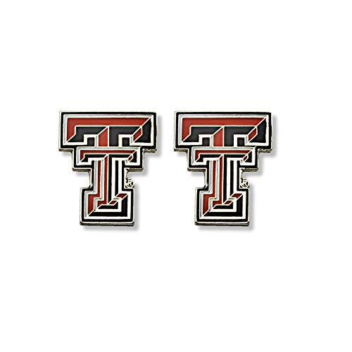 Texas Tech Jewelry Diamontrigue Jewelry: Texas Tech Red Raiders Silver Earrings, Silver Texas Tech