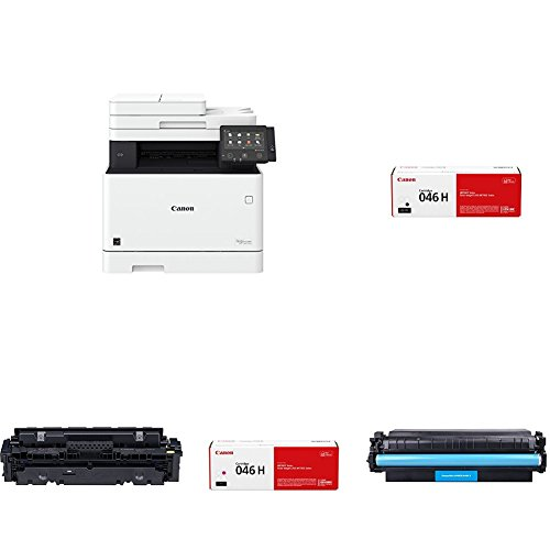 Canon Office Products MF733Cdw imageCLASS Wireless Color Printer with Scanner, Copier & Fax with High Yield Black, Cyan, Magenta and Yellow Toner Cartridges by Canon