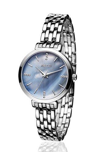 Mother Of Pearl Womans Watch (BAOSAILI Watch Women Stainless Steel Quartz Wrist Watch (Silver))