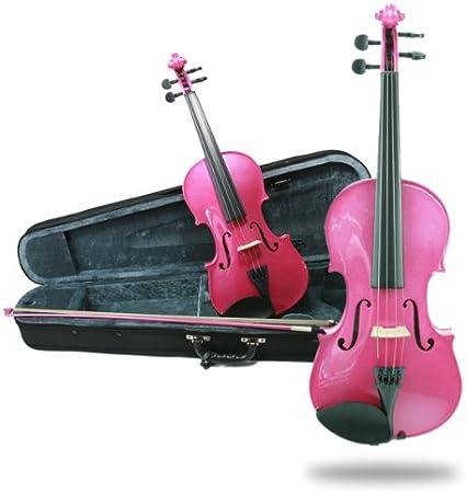 Primavera Rainbow Fantasia - Juego de violín, arco y estuche (tamaño 1/8), color rosa: Amazon.es: Instrumentos musicales