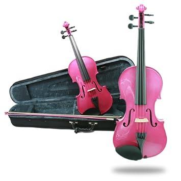 Primavera Rainbow Fantasia - Juego de violín, arco y estuche ...