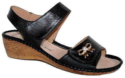 Cushion Walk - Sandalias de vestir de Material Sintético para mujer Negro - negro