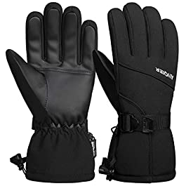 coskefy Thermal Gloves, -30℉ Coldproof Ski Gloves Waterproof Winter Gloves 3M Thinsulate Snow Snowboard Gloves Outdoors