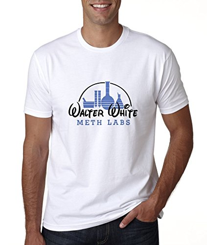 Walter White Meth Labs Disney Blanco Camiseta Top t-Shirt Shirt De los Hombres 2XL t-Shirt: Amazon.es: Ropa y accesorios