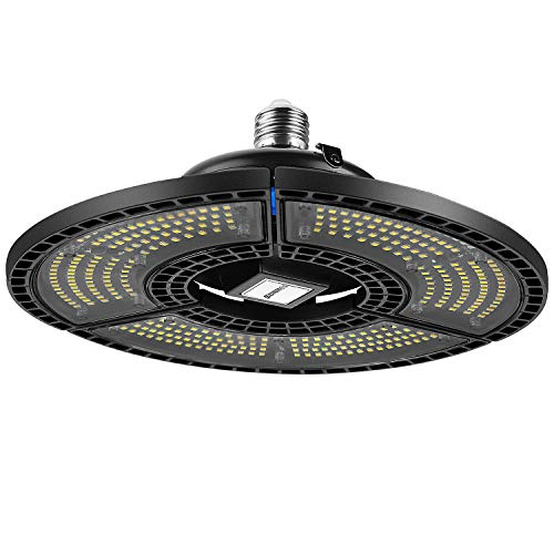 SUNMEG Upgrated LED Garage Light 80W with Dusk to Dawn Sensor, 6000K CRI 80 Waterproof Deformable LED Ceiling Lights…