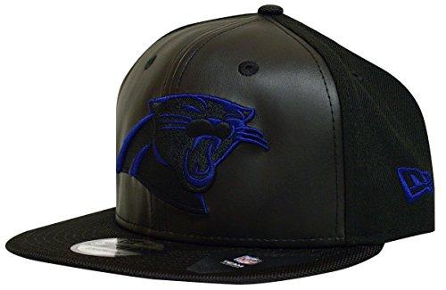 Carolina Panthers New Era Space Hook Leather Front Snapback (New Era Cap Leather Cap)