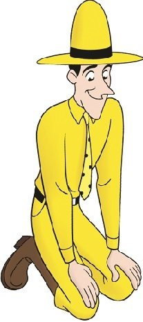 """7"""" Curious George Man in Yellow Hat Monkey Animal Removable Peel Self Stick Adhesive Vinyl Decorative Wall Decal Sticker Art Kids Room Home Decor Girl Boy Children Bedroom Nursery 3 x 7 inches tall"""