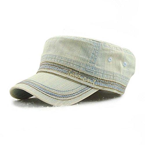 50a8d547 King Star Men Women Cotton Demin Army Cap Cadet Hat Military Flat Top  Adjustable Baseball Cap