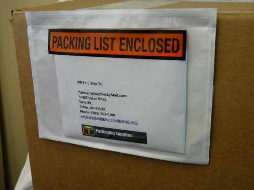 Enclosed Envelope Panel Face Top Load 2.0 Mil Thick - 7.5'' x 5.5'' 1000/Case by PackagingSuppliesByMail