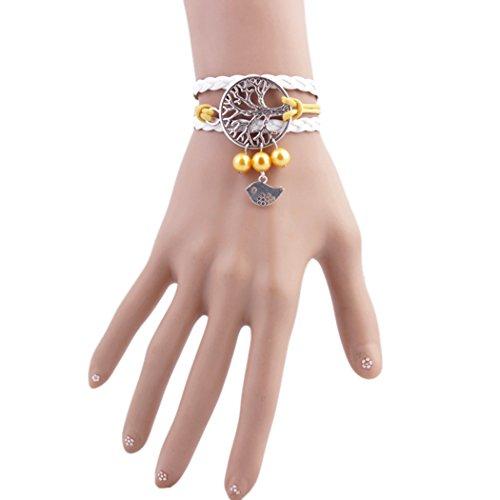 Price comparison product image Time Pawnshop Unique Wish Tree Birds Multilayer Braided Wristband Bracelet