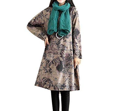 Round Comfy Skinny Neck Beach Dresses Print Maxi Pattern5 Women Retro Ethnic qBtwW7IrB