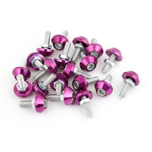 20 pièces de M6 Diamètre du filetage réparation Pièces Pneu Vis Pour Voiture Violet