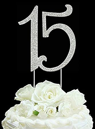 Groovy Quinceneara Sweet 15 Large Size Custom Rhinestone Numbers Birthday Personalised Birthday Cards Paralily Jamesorg